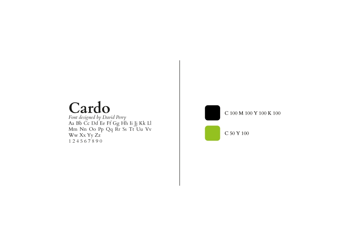 descrizione colore e font