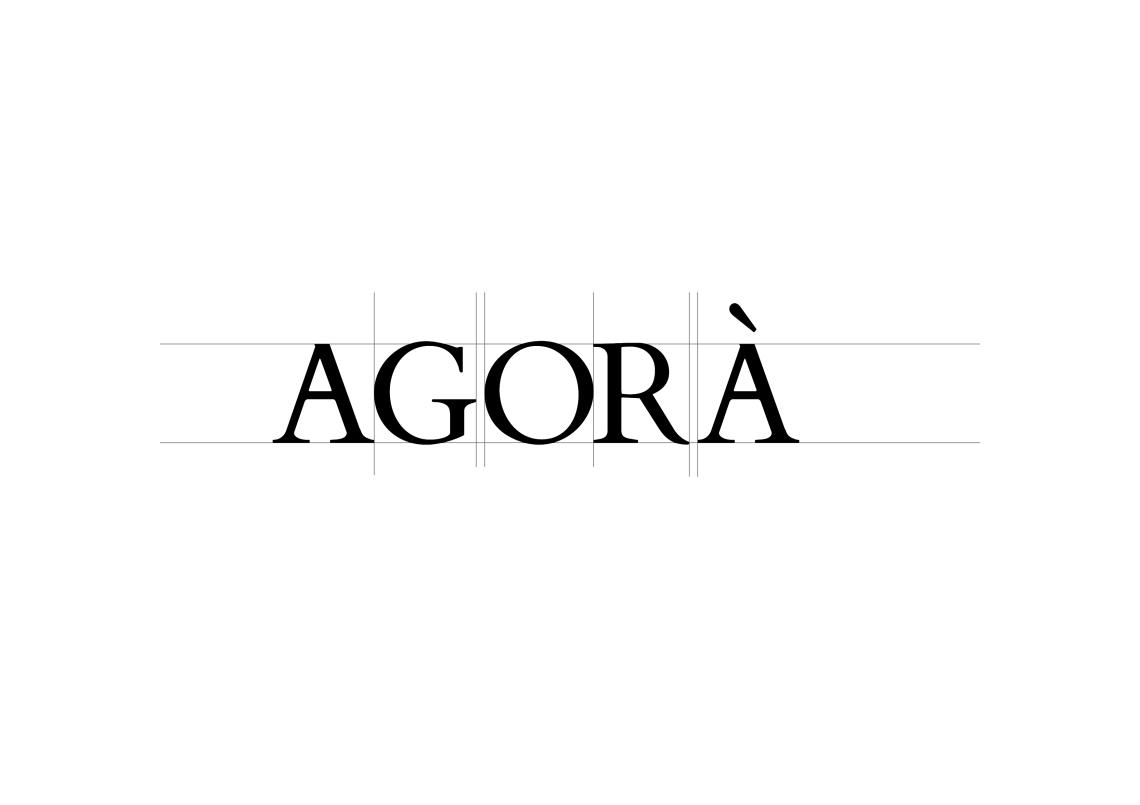 scritta logo agora